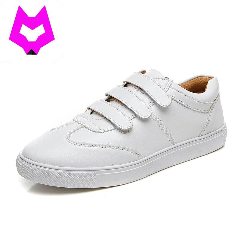 Lobo Que mujer zapatos blancos zapatos planos ocasionales de calidad Superior nu