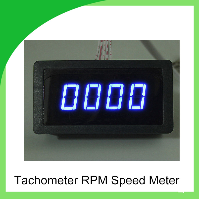2017Brand New 4 Digital LED Blue Tachometer RPM Speed Meter China Mnaufacturer brand new professional digital lux meter digital light meter lx1010b 100000 lux original retail package free shipping