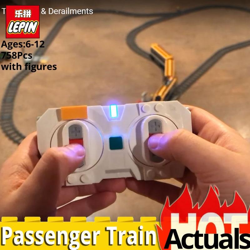 2019 nouveau Train de passagers télécommandé Lepin City Series 02117 avec blocs de construction motorisés briques jouets pour enfants noël