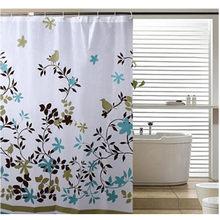 Rideau de douche classique imprimé Floral avec crochets, 1.8x1.8m d'épaisseur, rideau de salle de bain en PEVA étanche, 1 pièce/lot