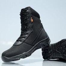 Открытый Спортивная Обувь Черные Военные Ботинки Черный Боевой Армии Туризм Путешествия Botas Зимние Тактические Загрузки