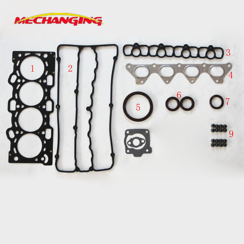 For MITSUBISHI RVR GDI 16V Engine Parts 4G93 GDI Automotive Spare Parts Full Set Engine Gasket