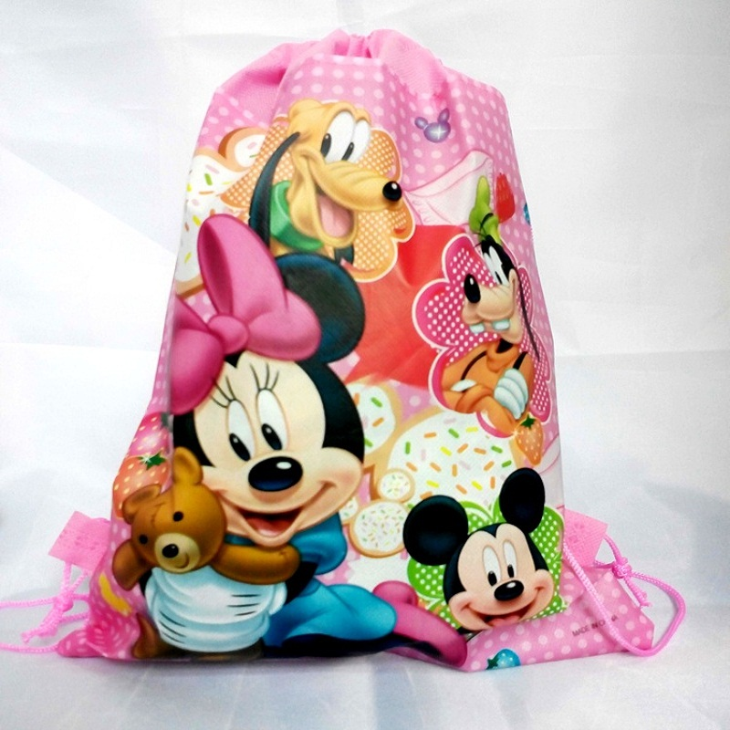 1 pieces / lot Winnie the Bear Kids Cartoon Drawstring Trainers for Boys, Children's Birthday Party Favor, Mochila School Child5 4pcs lot winnie bear children cartoon drawstring school bags for boys kids birthday party favor mochila school kids backpack
