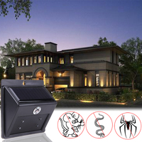Solar Powered Outdoor Garden Yard Ultrasonic Snake Rodent Pest Repeller LED Garden Pest Control Tools