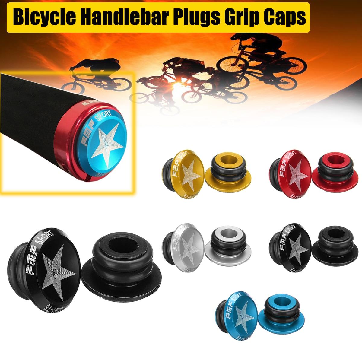 1 Pair Aluminum Alloy Mountain Bicycle Road Bike Handlebar Handle Bar End Grips
