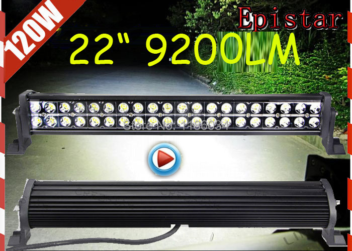 Free DHL ship!1pcs/set,22inch 120W 9200LM 10~30V,6500K,Epistar,LED working bar,Boat,Bridge,Truck,SUV Offroad car,4x4,black!36W! 36w 2520lm 6000k 12 epistar led waterproof spotlight working lamp bar for car boat black
