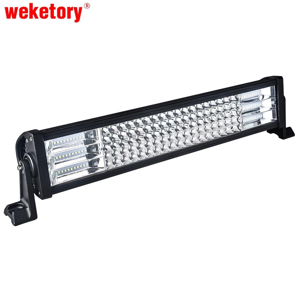 Weketory 22 дюймов светодиодный свет работы бар для вождения автомобиля Трактор Лодка OffRoad 4WD 4×4 грузовик внедорожник ATV combo луча 12 В 24 В