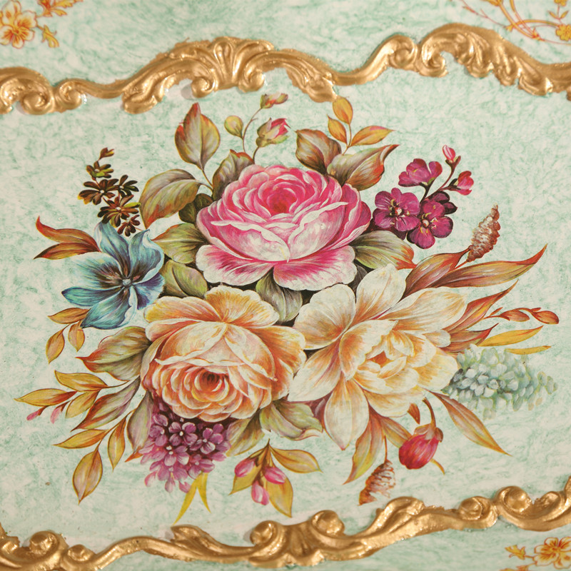 Continental Retro Home Furnishing Palace Luxury Garden Decor Fruit Plate Resin And Set The Table Special Offer In Dishes Plates From