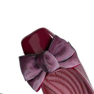 Image 3 - BEYARNENew 2019 אופנה נעלי נשים שטוח העקב רך אחת נעלי פרפר קשר אלגנטי נשים של דירות גבירותיי מותג בתוספת SizeE170