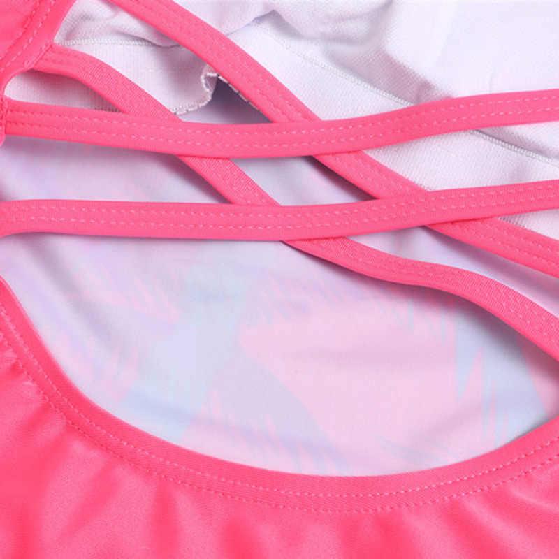 7-16 세 십대 소녀 수영복 키즈 원피스 프린트 비치 어린이 수영복 붕대 유아 소녀 수영복 핑크 수영복