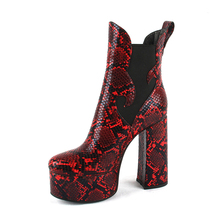 Fashion Sexy Ultra High Heels Shoes Woman Female Round Toe Martin Boots Thick Heel Platform Serpentine Women Shoes Ankle Boots цены онлайн