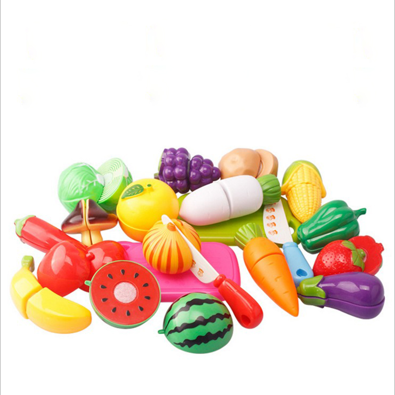 Plastic Toy Food : Pcs lot plastic kitchen food fruit vegetable cutting