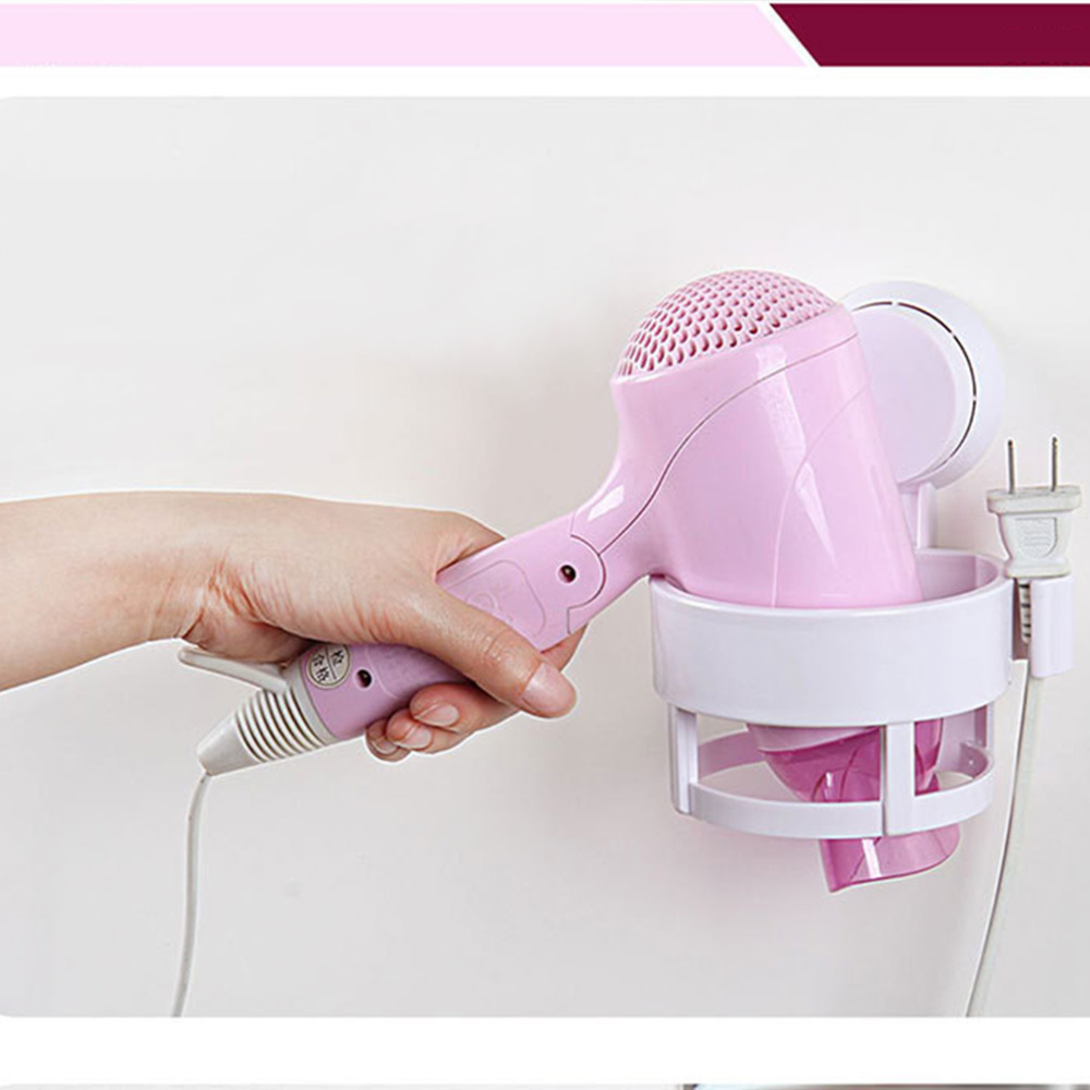 2015 NEW arrival Bathrooms Salon Suction Cup Hair Dryer Storage Stand Rack Holder Organizer hot search image