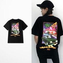 Ulzzang Fashion T Shirt Man And Women Skateboard Hip Hop Burger Print Harajuku Funny T Shirts Casual Wear Vespa Top Tee 3XL