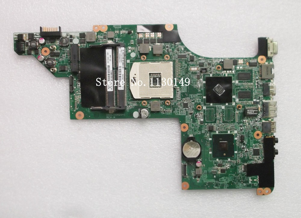 Free Shipping 603643-001 laptop motherboard for HP DV6T DV6-3000 HM55 Fully tested Mainboard DA0LX6MB6F2