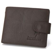 SUONAYI Wallets Men Full Grai Leather Fashion Short Purse Man Woman Stylish Cowhide Pocket Classic Money Holder Mi