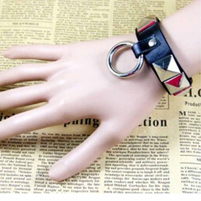 Punk Rock Leather Belt Buckle Bracelets For Women Men Bracelets & Bangle Rivet Charms Bracelet Wristband Pulseira Masculina