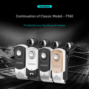 FineBlue F960 Wireless Driver Bluetooth V4.0 Headphone Call Vibration Remind Noise Canceling Wear Clip Driver Headphone with Mic