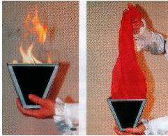Multi cône-feu, tour de magie de scène, amusement, accessoires, accessoires magiques en soie, tour de fête, Illusions