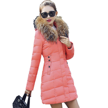 LUCKY STAR New Warm Winter Coat Women Thick Winter Hooded Jacket Female Femme Outerwear Doudoune femme fourrure capuche manteaux