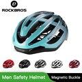 Casco ultraligero ROCKBROS bicicleta en molde hombres adultos casco de seguridad ciclismo transpirable comodidad casco magnético