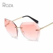 ROZA Sunglasses For Women Diamond Cutting Lens Oversize Cat Eye Shades Brand Designer Sun Glasses QC0534