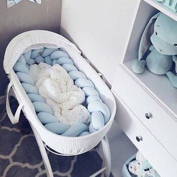 Детская кроватка с узелком ручной работы, 2 м, боковое постельное белье с узелком, подушка для новорожденной кровати, бампер, защита для кров...