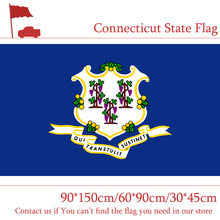 Free shipping Connecticut State Flag USA 3*5ft Hanging 90*150cm 60*90cm Office Activity 30*45cm Car