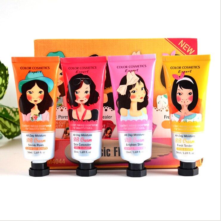 Korean Kosmetik Marke Makeup BB/CC Creme 4 Farben Bleaching Sonnenschutz Basis Dermacol Corretivo BB Creme Gesicht Concealer Maquiagem