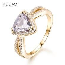 279eced6f9c3 Moliam Moda joyería mujer anillo azul claro blanco cúbicos ZIRCON cristal  triángulo Dedo de piedra Anillos bagues mlr386  mlr387