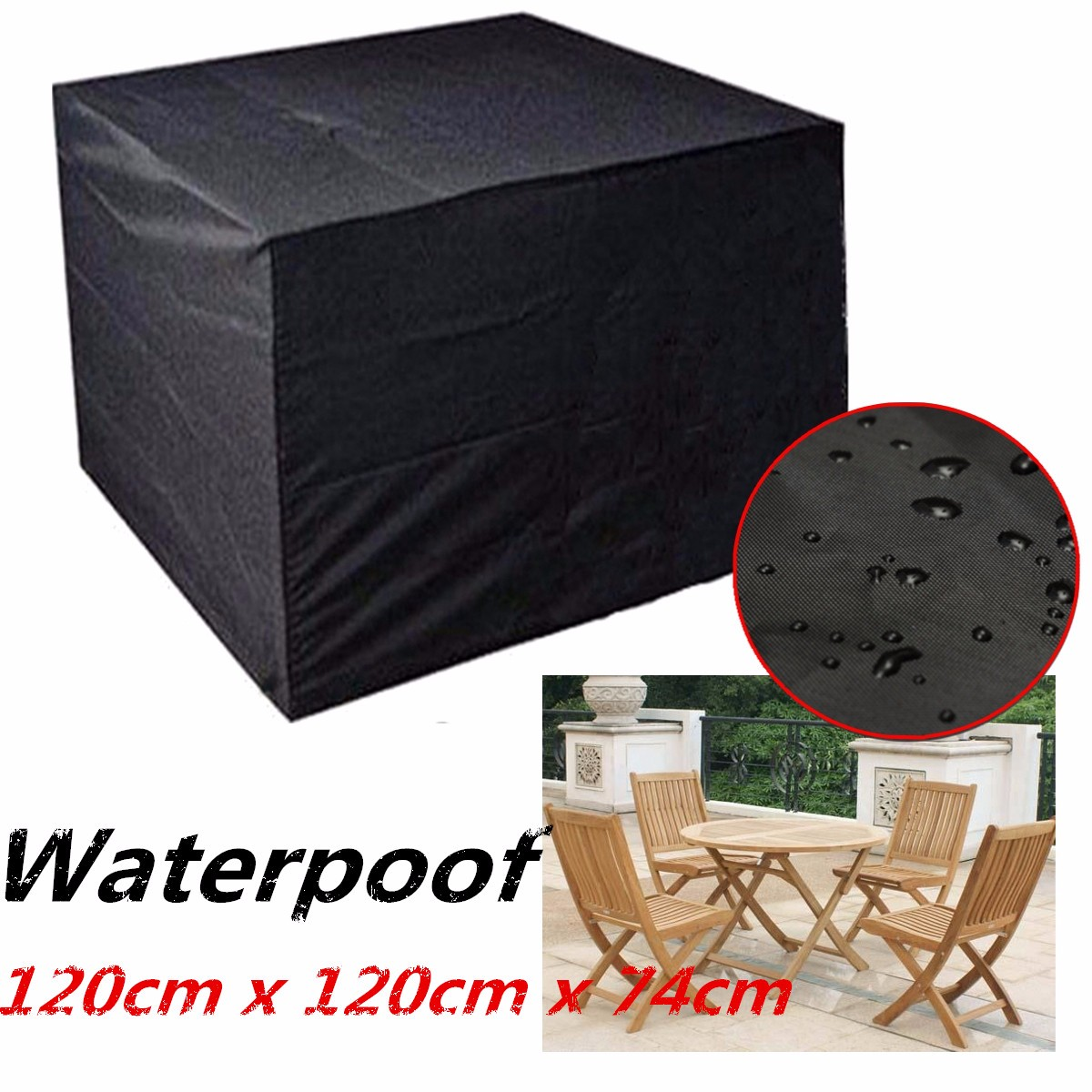 Furniture Dust Cover Fabric: Waterproof Cube Furniture Garden Outdoor Dust UV Polyester