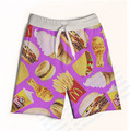 Real USA Size Junk Food Overload 3D Sublimation Print Custom made Fifth & Seventh Shorts with String