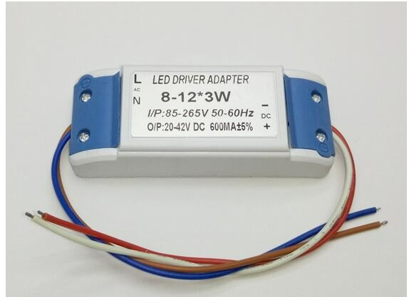 10 pieces 8-12x3 W Waterproof LED Driver 24-36W 600MA Constant Current Driver LED Power Supply ( Input 85-265V) kvp 24200 td 24v 200w triac dimmable constant voltage led driver ac90 130v ac170 265v input