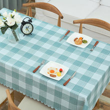 купить Coffee table table cloth, waterproof, oilproof, anti-scalding PVC disposable tablecloth, lattice rectangular table mat по цене 957.43 рублей