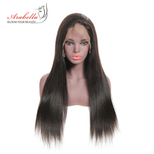 hot deal buy arabella brazilian straight lace front human hair wigs 180% density 100% remy human hair lace wigs pre plucked lace front wig