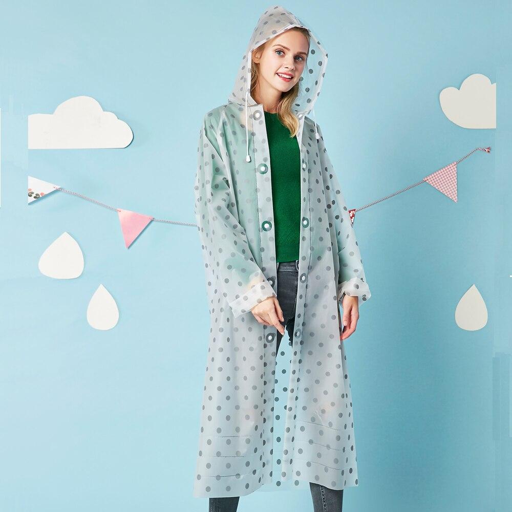 Yuding Women Raincoat Transparent Universal Outdoors Ladies Travel for Free-Cut Creative