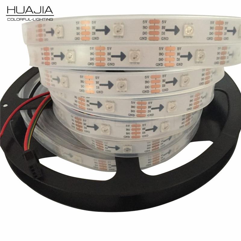 2m / 5m Ws2813 Ledstrip Dc5V Smd5050 RGB Individueel adresseerbaar - LED-Verlichting