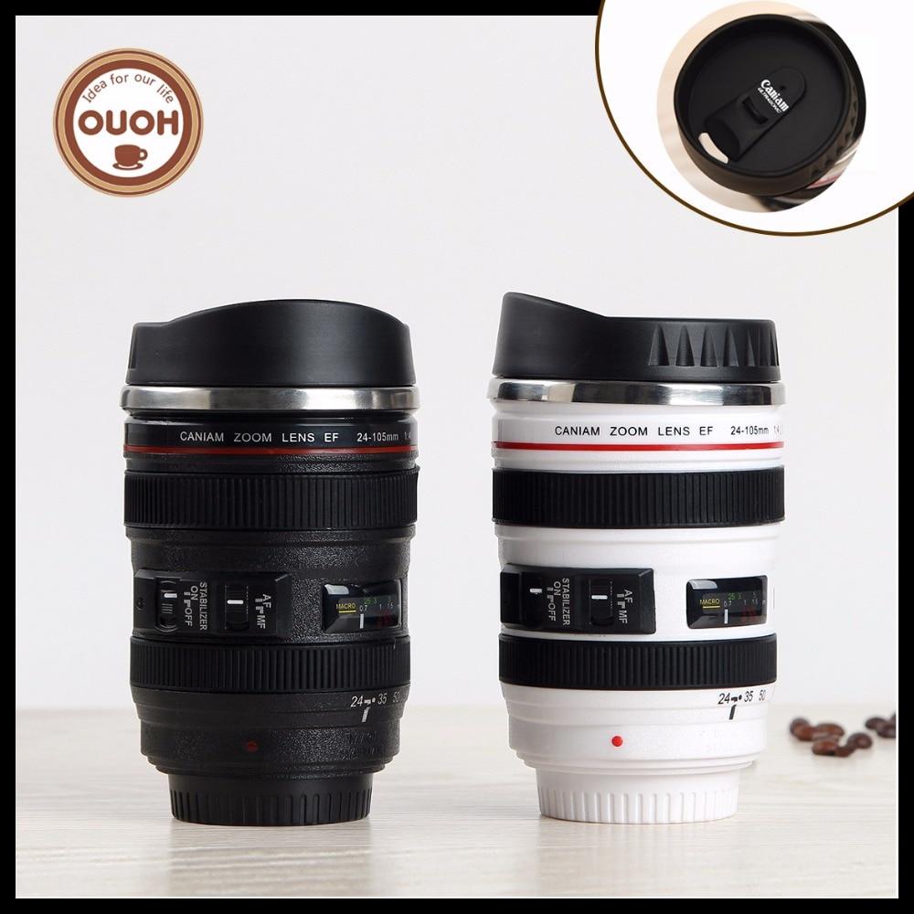 Brezplačna dostava 60pcs / lot CPAM iz nerjavečega jekla Kava kamera leča skodelica skodelica (Caniam) logotip 5. generacije na debelo