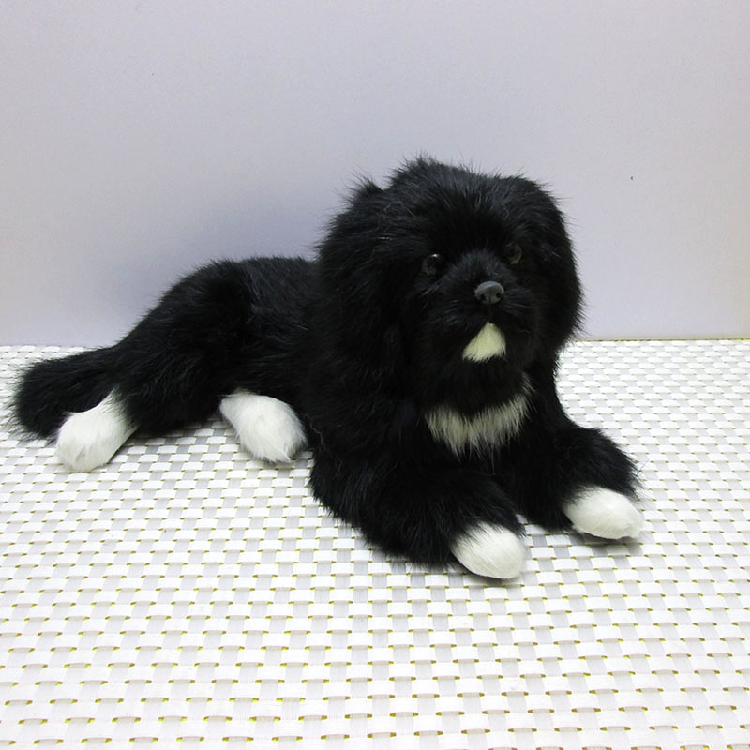 black simulation dog polyethylene & furs lying dog model doll gift about 30x17x13cm 296 new simulation sleeping dog plastic&fur black&white dog model gift about 36x25x14cm a81