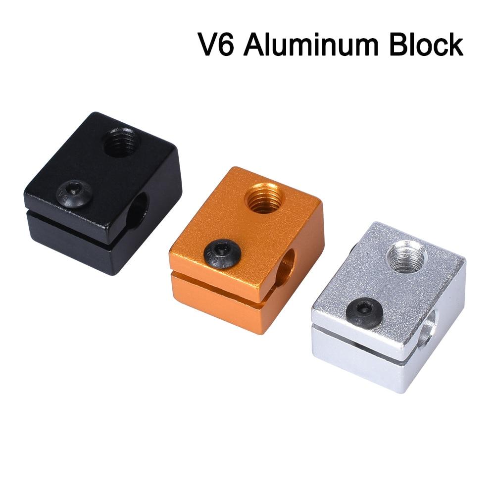 3D Printer Parts V6 Heated Block Makerbot MK8 MK10 E3D V5 V6 Volcano for Head Extruder J-head Alumin