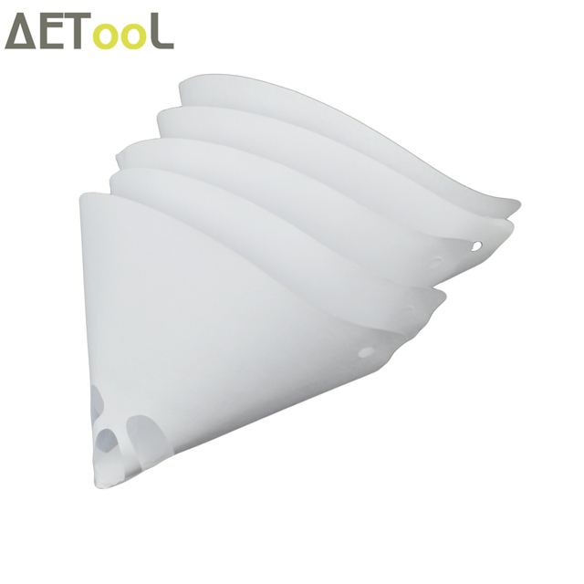 aetool brand 10pcs set paper paint strainers conical strainers mesh