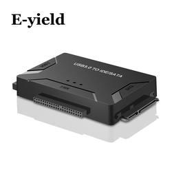 """USB 3,0 для SATA IDE ATA данных адаптер 3 в 1 для портативных ПК 2,5 """"3,5"""" HDD жесткий диск с мощность"""