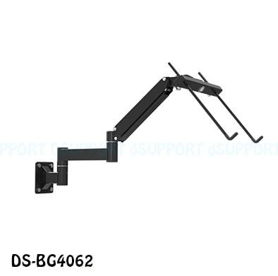 Tilt Foldable Wall Mount 17-27 inch Laptop Holder Gas Spring Arm Laptop Cooler Retractable Notebook Mount Hanger