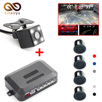 Sinairyu Car Intelligent Trajectory Rear View Camera With Radar Parking Sensor For Monitor DVD Player
