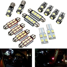 14Pcs Car LED Plate Interior Reading Light Festoon Bulb White Replacement For VW Transporter T5