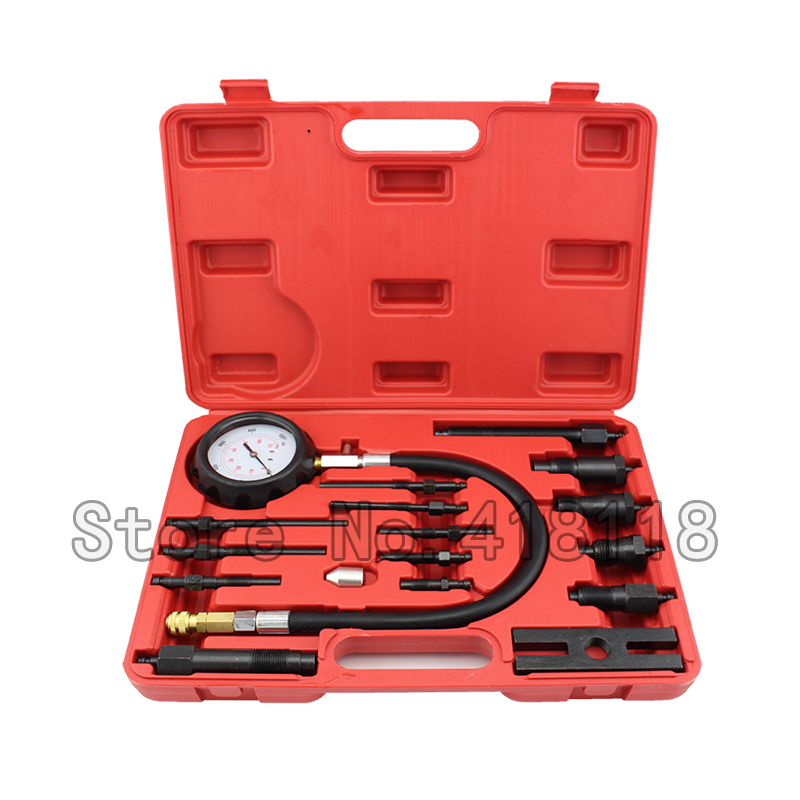 Automotive Tools TU-15B Diesel Engine Compression Tester Kit Engine Testing Tool For Auto Engine Repair automotive tools tu 15a diesel engine compression tester kit engine pressure gauge 0 1000psi