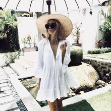 Bikini Cover Up Lace Hollow Crochet Swimsuit Women Ups Summer Ladies Solid White Bathing Suit Beach Wear up