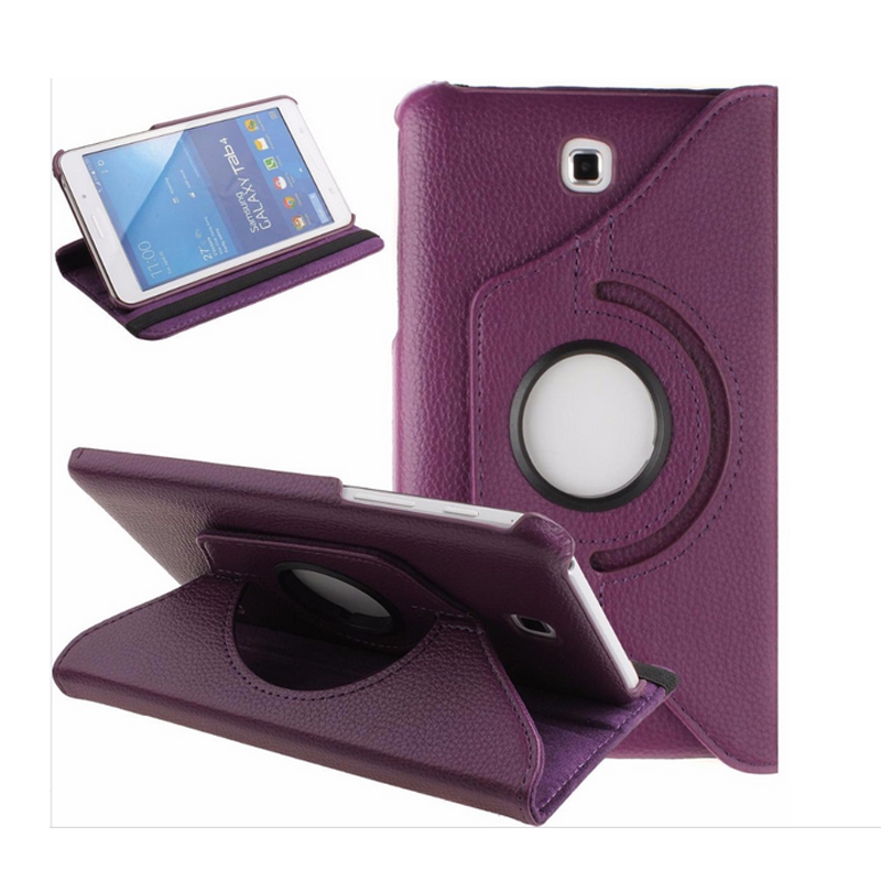360 Degree Rotary For Samsung Tab 4 T230 Case 7 Smart Stand PU Funda For Samsung Galaxy Tab 4 7.0 T230 T231 Flip Case Cover