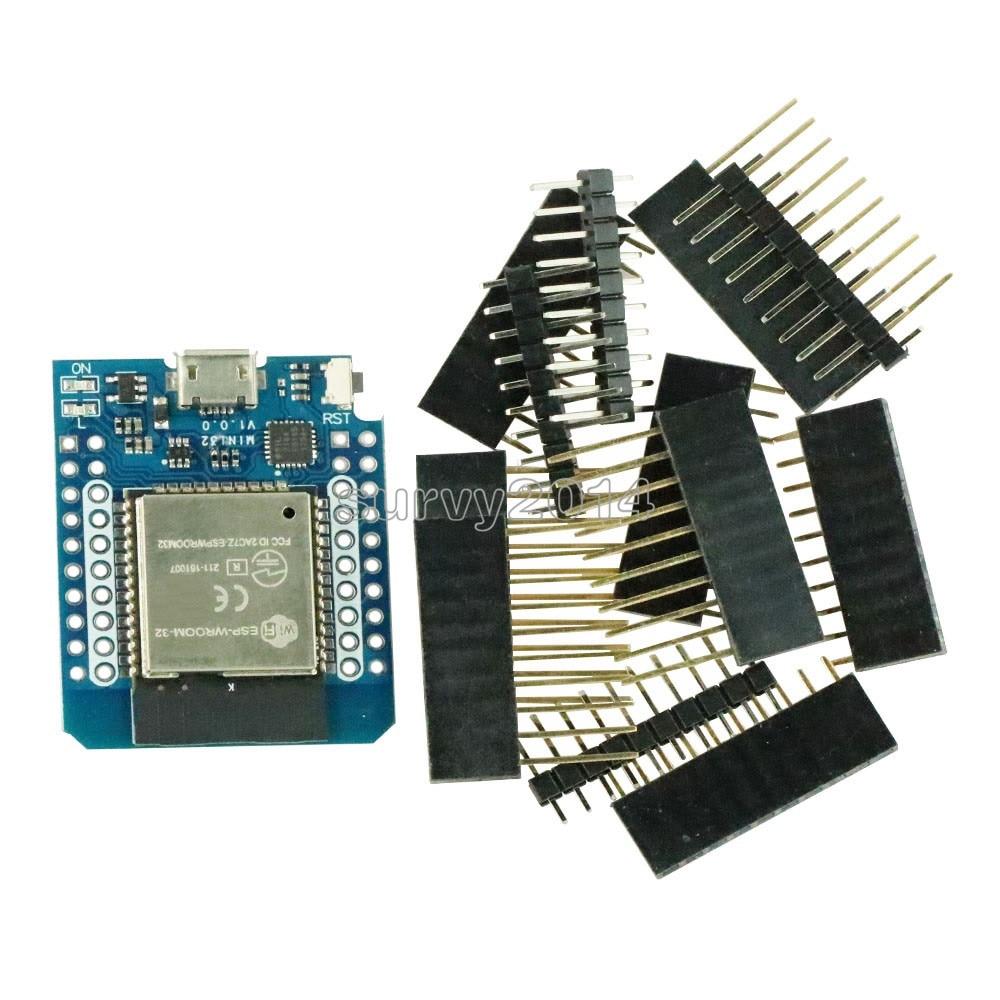 For Wemos MINI D1 ESP32 ESP-32S Wireless WiFi Bluetooth BLE For Wemos D1 Mini Esp8266 CP2102 Module With PinsFor Wemos MINI D1 ESP32 ESP-32S Wireless WiFi Bluetooth BLE For Wemos D1 Mini Esp8266 CP2102 Module With Pins