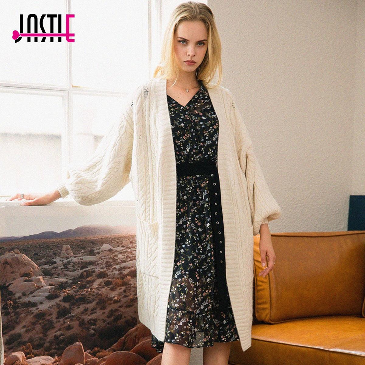Aliexpress.com : Buy Jastie Casual Knitting Long Cardigan Female ...